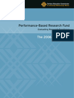 Performance-Based Research Fund 2006