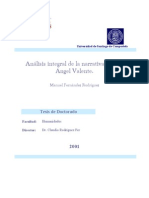 Analisis Integral de La Narrativa de Jose Angel Valente 0
