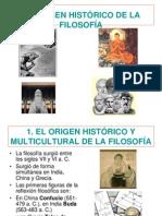 Clase 1 El Origen Historico de La Filosofia