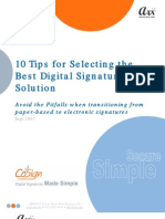 10 Tips for Selecting Digital Signature Solution