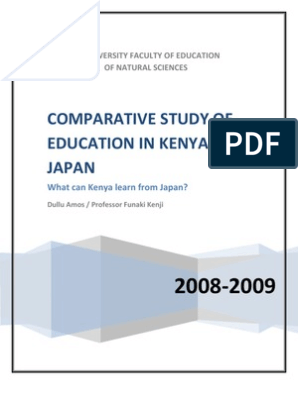 Comparative Study of Education in Kenya and Japan: What can Kenya