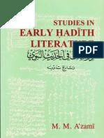 Studies In Early Hadith Literature By Shaykh Muhammad Mustafa Al Azami