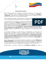 CAPRILES, Contrato Telmex