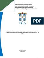 Especificaciones Del Lenguaje Visual Basic 10.0