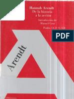 De La Historia a La Accion - Hannah Arendt