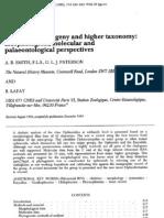 Smith Et Al. 1994. Ophiuridos, Filogenia y Taxonomia