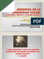GERENCIA de LA SEGURIDAD SOCIAL - Conceptos Clásicos y Contemporáneos