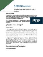 Diario de Nicaragua (La Prensa) 25 de Octubre 2012