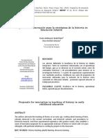 Propuestas Innovacion Ensenanza Historia Educacion Infantil Pedro Miralles
