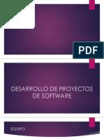 Desarrollo de Proyectos de Software.