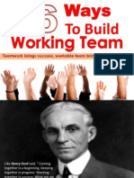 36 Ways to Build a Team