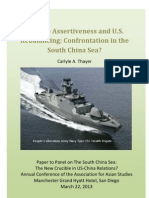 Thayer Chinese Assertiveness and U.S. Rebalancing