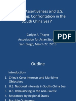 Thayer Chinese Assertiveness and U.S. Rebalancing Power Point Presentation