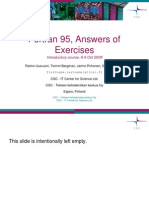Fortran 95 Answers of Exercises