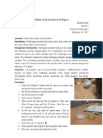 Iodine Clock Reaction Lab Report Sm
