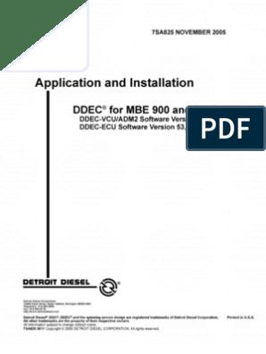Manual de MBE 900 y 4000 Motores | Throttle | Diesel Engine