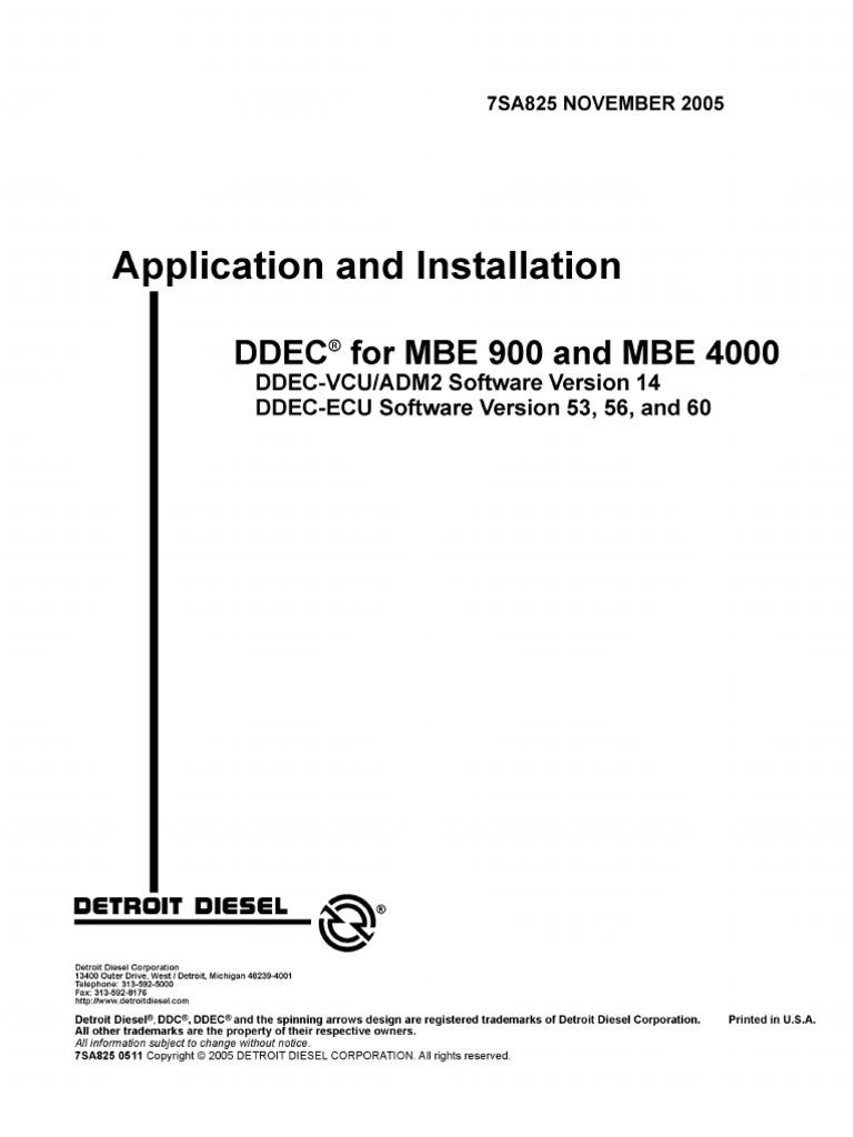 manual de mbe 900 y 4000 motores throttle diesel engine rh es scribd com mercedes mbe 4000 wiring diagram mbe 4000 starter wiring diagram