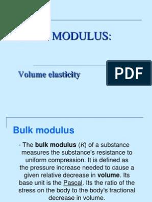 Bulk Modulus Ppt Young S Modulus Ductility