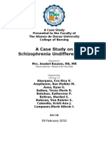 Undifferentiated Schizophrenia Case Study Sample