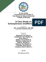 Undifferentiated Schizophrenia Case Study Sample