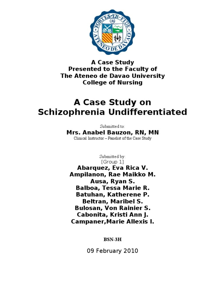 case study for schizophrenia paranoid  a case of paranoid schizophrenia and severe antipsychotic induced