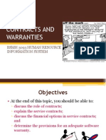 08 Implementation Contracts and Warranties