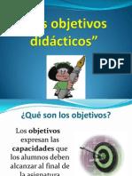02 Los objetivos didácticos