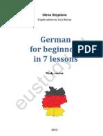 German for Beginners, Basic German