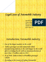 Legal Cases of Automobile Industry