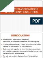 Employers Association in International firms