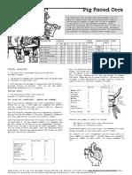 Warhammer 1e Pig Faced Orcs Army List