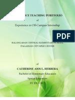 Sample Practice Teaching Portfolio