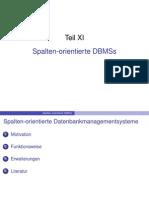 Teil 11 Spalten Orientierte DBMS
