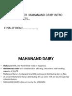 Mahanand Dairy Intro