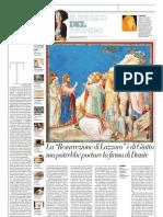 IL MUSEO DEL MONDO 13 - Resurrezione Di Lazzaro Di Giotto (1303-05) - La Repubblica (24.03.2013)