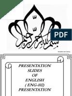 Presentation of ENGLISH