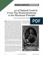 300 Years of Optimal Control