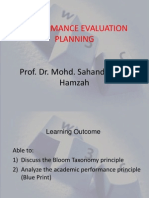 Performance Evaluation Planning-prof Sahandri