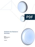 Statistic For Business Decission