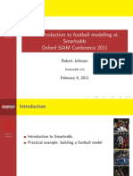 An Introduction to Football Modelling at Smartodds by Robert Johnson