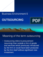 Business Environment-5 (Out Sourcing)