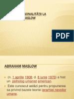 Teoria personalităţii la Maslow