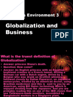 Business Environment 3(Globalization & Business)