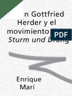 Mar%C3%AD%2C Enrique Johann Gottfried Herder y El Movimineto Del Sturm Und Drang