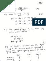Math Problem set