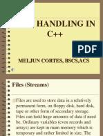 MELJUN CORTES File Handler c Lecture