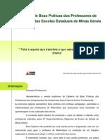 CADERNO DE BOAS PRÁTICAS DOS PROFESSORES DE MATEMÁTICA DAS ESCOLAS ESTADUAIS DE MG