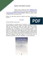 Mahatmas Versus Mestres Ascensos