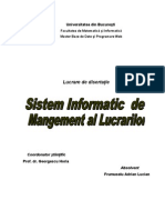 Lucrare Disertatie Sistem Informatic de management al lucrarilor
