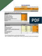 FBP Declaration Form for F.Y 2010-11